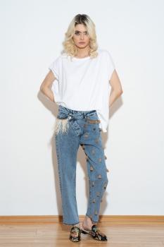 Tricou oversize alb