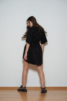 Rochie verde fata paiete spate catifea cu maneci bufante